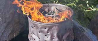 Сжигание мусора в специально подготовленной бочке
