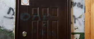 Испорченная соседями дверь
